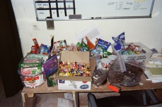 We couldn't get bulletproof glass for our guard towers, equipment to repair our jammers to protect us from IEDs, or even cold weather gear that would not catch fire if our vehicles were hit, but we sure had a lot of candy! Charlie Company, 4th Combat Engineer Battalion, Regimental Combat Team 7, Anbar Province, 2006.